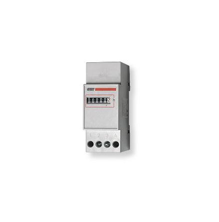 Drifttidmätare, din-montage, 2 moduler, 24VAC