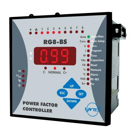 Energimätare, 8 steg, 3-fas kondensatorer, THD