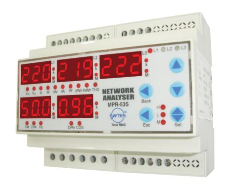 Energimätare/Elnätsanalysator larmkontakt, kWh, THD, kVArh