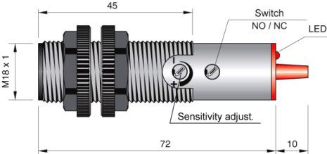 Fotocell mottagare till FT18-ABE