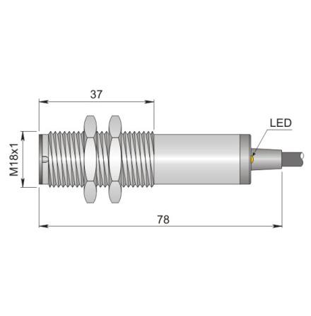 Fotocell sändare, 15m, PNP/NPN, NO+NC, 10-30VDC