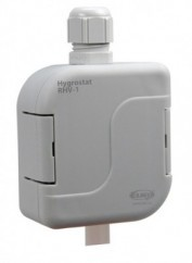 Hygrostat, utanpåliggande montage, 0-90%, RH i 3 områden