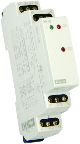 Impulsrelä med minne, 2 växlande kontakter, 16A, 12-240VAC/D