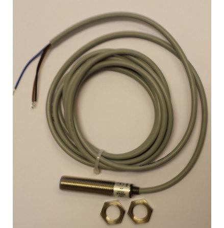 Induktiv givare M12, PNP NO, känselavstånd 4mm, 10-30VDC