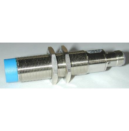 Induktiv givare M18, NO, känselavstånd 8mm, 24-250VAC, skärmad