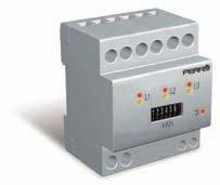Kilowattimräknare AC 63 A med analog visning, pulsutgång 0,1/puls