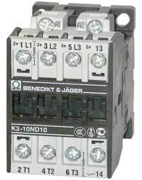 Kontaktor K3-10A10, 230VAC, 4 Kw