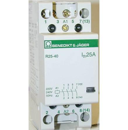 Kontaktor R25-40, 230VAC, brumfritt