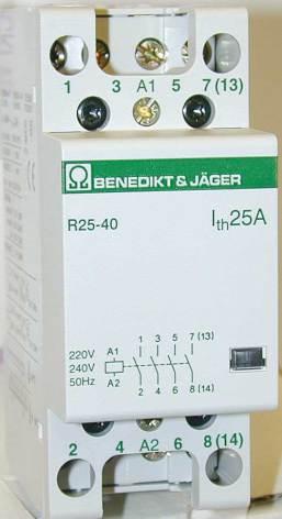 Kontaktor R40-40, 230VAC, brumfritt
