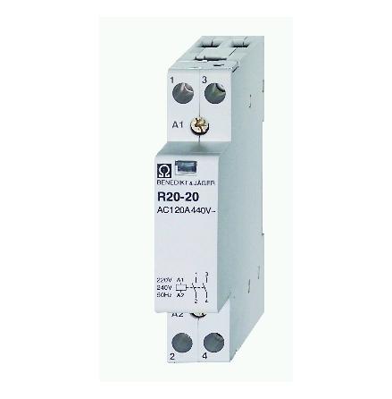 Kontaktorrelä R20-11, 230VAC, 1NO/1NC, brumfritt