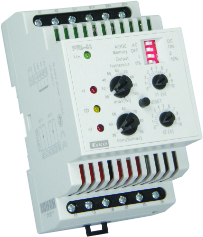 Kontrollrelä ström, PRI-41, 4-16A, 1,25-5A, 0,4-1,6A,  230VAC, 3 moduler