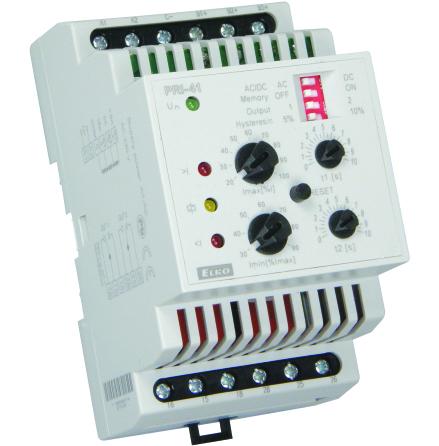 Kontrollrelä ström, PRI-41, 4-16A, 1,25-5A, 0,4-1,6A, 24VDC