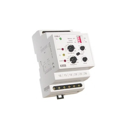 Kontrollrelä COS-2, strömområde 0,1-16A, 2 växlande reläutgångar