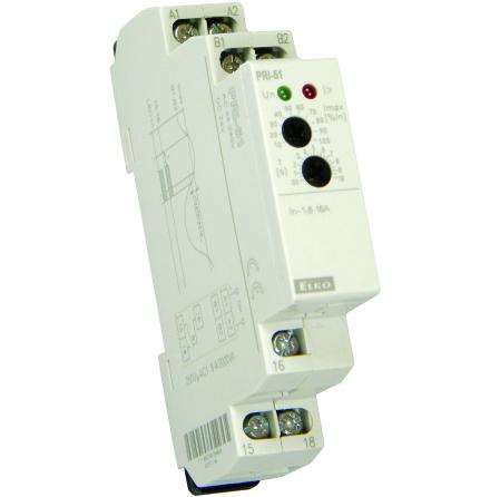 Kontrollrelä ström, 1 Modul, Reläut. 8A Omr. 0,05-0,5A