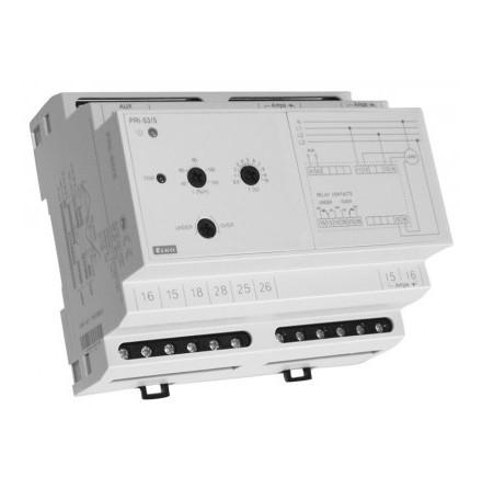 Kontrollrelä ström, 3-fas, 6 moduler, reläutgång 8A, område 0,4-1,2A