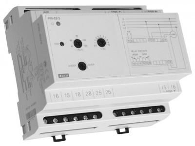 Kontrollrelä ström, 3-fas, 6 moduler, reläutgång 8A. område 2-6A