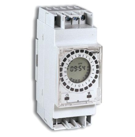 Kopplingsur 0022/D15, digitalt dygnsur, 2 moduler, 230VAC