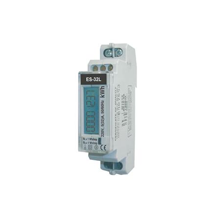 kWh mätare, digital, 1 modul, 1 fas, klass 1, 32A, pulsutgång