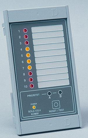 Larmpanel kombi larm & drift, med minnes-blinkfunktion, 12 DC