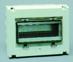 Normkapsling IP55, utan jord-och nollskena, 8 moduler