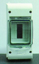 Normkapsling IP55, utan jord-och nollskena, 3 moduler