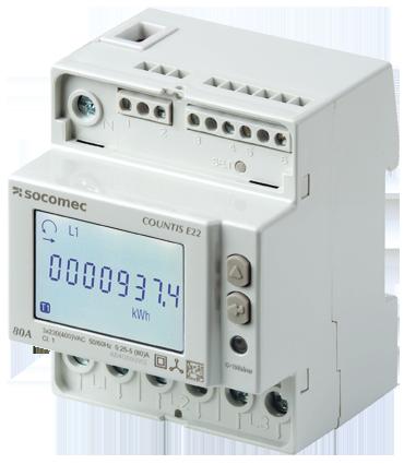 kWh mätare, digital, MID,4 mod, 3 fas, 80A, pulsutg. 2T